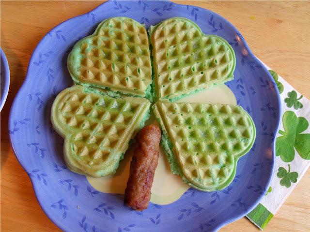 Green Waffles.